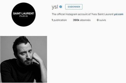 Saint Laurent vide son compte Instagram | Made In Retail : Mode & Médias sociaux | Scoop.it
