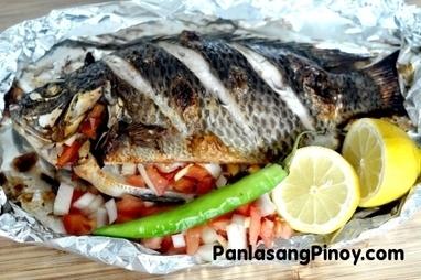 Pinaputok na tilapia recipe panlasang pinoy for Fish recipe panlasang pinoy