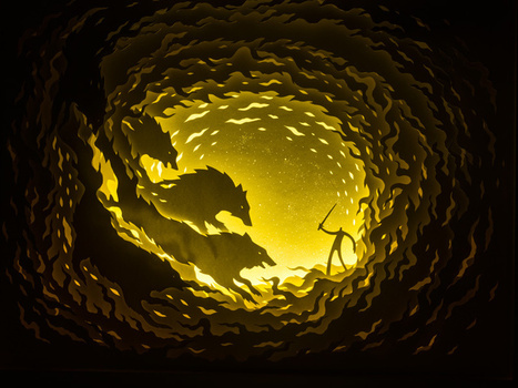 Illuminated Cut Paper Light Boxes by Hari & Deepti | Colossal | Amazing Paper | Scoop.it