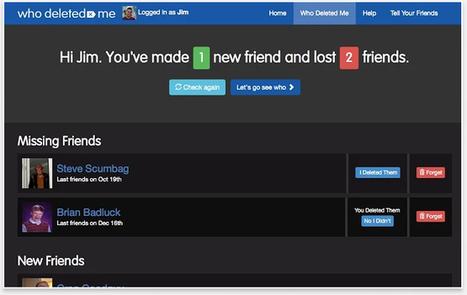 Comment savoir qui n'est plus votre ami sur Facebook ! | Time to Learn | Scoop.it