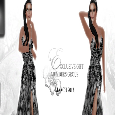 Dress March 2013 Group Gift by MOREA Style | Teleport Hub | Second Life Freebies | Scoop.it