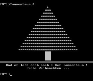 Tannenbaum, also known as Christmas Tree or XA1 is a slightly... | ASCII Art | Scoop.it