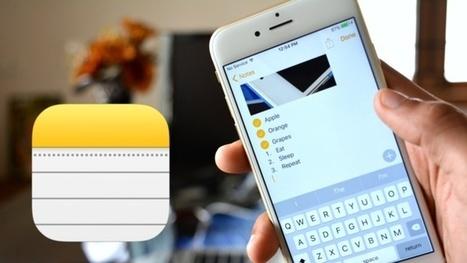iOS 9: Ce que réserve la nouvelle version de Notes sur iPhone | mlearn | Scoop.it