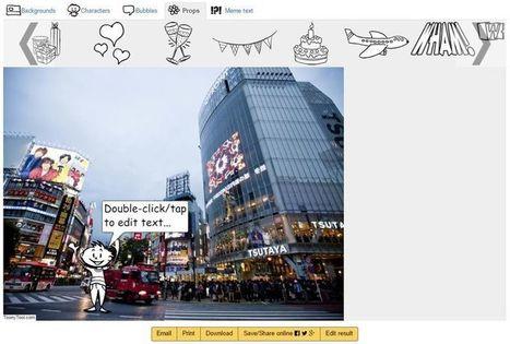 ToonyTool: aplicación web para crear viñetas, cómics y memes | Educacion, ecologia y TIC | Scoop.it