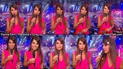 Photos : Karine Ferri sexy dans The Voice (27/04/13)   Radio Planète-Eléa   Scoop.it
