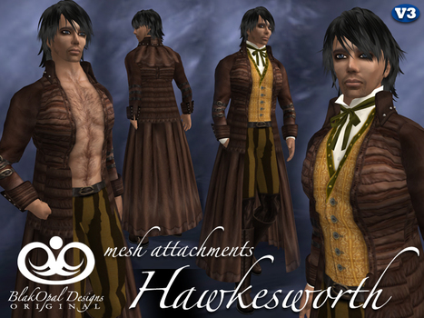 Hawkesworth Brown Outfit with Mesh Attachments by BlakOpal Designs | Teleport Hub | Second Life Freebies | Scoop.it