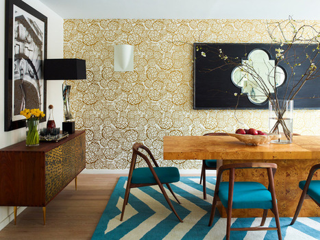 Let Graphic Wallpaper Win You Over | Designing Interiors | Scoop.it