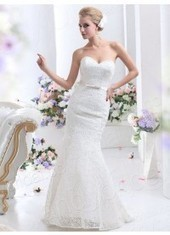 Trumpet Mermaid Sweetheart Court Train Lace Ivory Wedding Dress Lbldb12128 for $959 | expensiven | Scoop.it