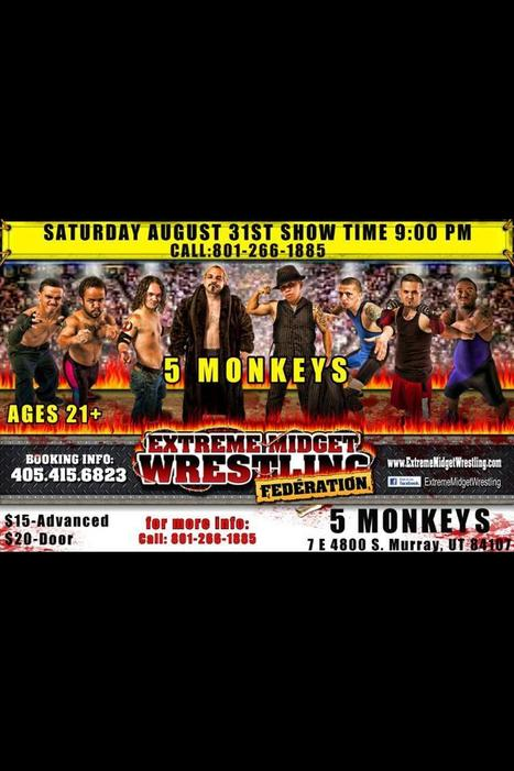 Midgets are coming!!!!! August 31 @ 9:00 pm. Tickets available now $15 | 5 Monkeys Bar | Scoop.it