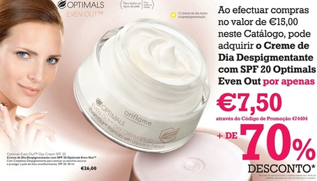 Creme de Dia Oriflame - Despigmentante com SPF 20 Optimals Even Out™ | Oriflame Portugal | Scoop.it