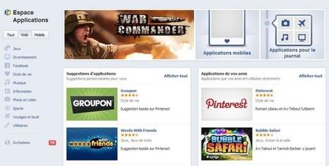 Espace Applications de Facebook est lancé en France | Geeks | Scoop.it