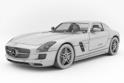 Mercedes SLS AMG 3D | 3D Library | Scoop.it