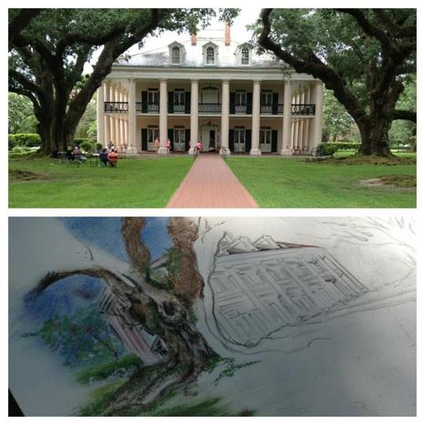 Twitter / Stephanie_eiraM: Wednesday's sketch at Oak Alley ... | Oak Alley Plantation: Things to see! | Scoop.it