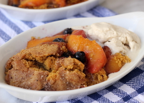 Peach Blueberry Cobbler {Gluten-Free +Vegan} | Meaningful Eats | Vegan Eats | Scoop.it