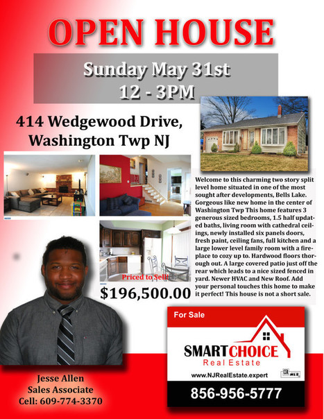 OPEN House Sunday May 31st 12-3PM 414 Wedgewood Drive, Sewell, NJ SMART Choice Real Estate | SmartChoiceRealEstate | Scoop.it