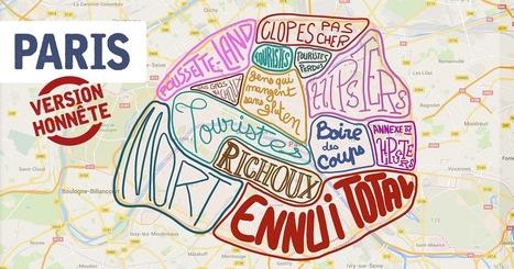 Top 15 des cartes de villes françaises version honnête, tout de suite c'est plus clair | Cours de français | Scoop.it