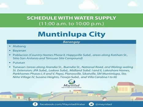 Dahil sa maduming tubig mula Laguna Lake, Maynilad, may araw-araw na water interruption ... | Water Stewardship | Scoop.it