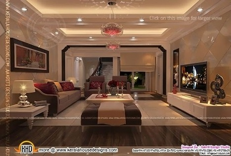 Interior design of living room, dining room and Kitchen - Kerala ... | Kitchen extensions | Scoop.it