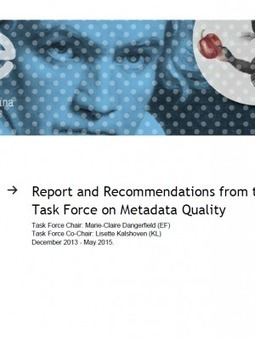 Metadata Quality Task Force Report | Libraries | Scoop.it
