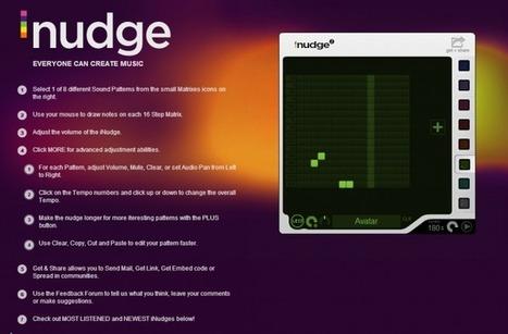 Tout le monde peut faire de la musique avec Inudget | SlyDnet | Créer des rythmes et des mélodies en toute liberté sur le Web | Scoop.it