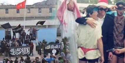 Tunisie : Lycéens entre string rouge et drapeau noir | leskoop | Scoop.it