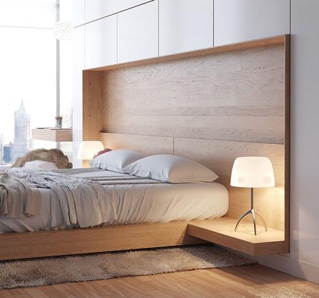 Bedroom Design Idea - Combine Your Bed And Side Table Into One | Arkitektura xehetasunak | Scoop.it