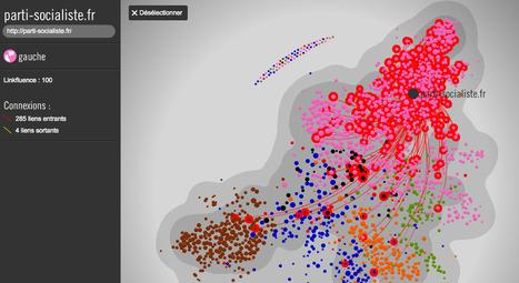 Carte de la blogosphère politique 2013   dataviz and datajournalisme   Scoop.it