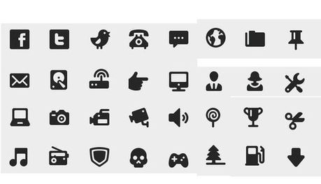 40 Symbols, Signs, Glyph And Simple Icon Sets For Your Design | freebies | Scoop.it