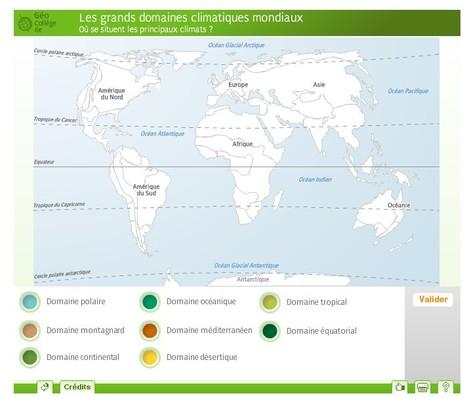 Les grands domaines climatiques mondiaux | Des jeux pour apprendre en s'amusant | Scoop.it