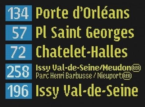 Diseño tipográfico para el transporte público de París | DISEÑO | Scoop.it