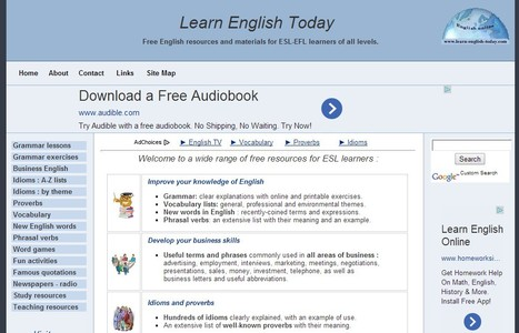 Free website for learners of English | ESL-EFL | Learn English Today | AdLit | Scoop.it