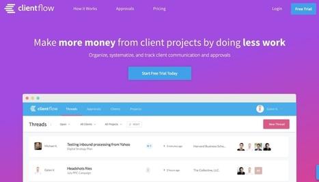 ClientFlow. Outil de suivi des projets clients - Les Outils Collaboratifs | Les outils du Web 2.0 | Scoop.it