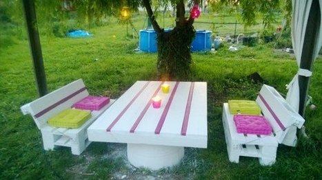 Pallets Garden set / Salon de jardin en palettes | 1001 Pallets | bancoideas | Scoop.it