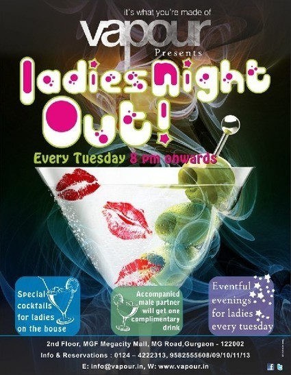 LADIES NIGHT OUT at Vapour | Events In India | Scoop.it
