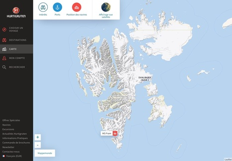 #Hurtigruten : le Fram arrive au #Spitzberg #Svalbard #carte #banquise | Hurtigruten Arctique Antarctique | Scoop.it