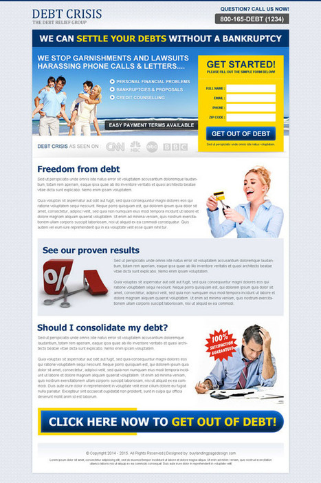 get-out-of-debt-service-agency-lp-017 | Debt landing page design preview. | converting and effective landing page designs | Scoop.it
