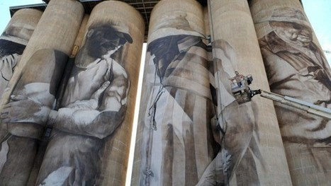 Guido van Helten silos in Brim Australia captivate - Street I Am | Street Art Planet | Scoop.it