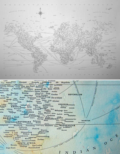 Creative Cartography: 15 Artists Transforming Maps | WebUrbanist | Digital Cartography | Scoop.it