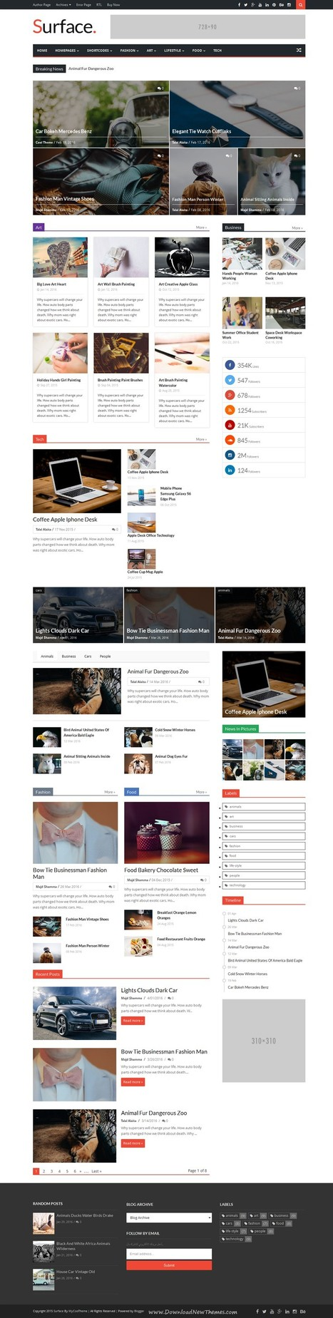 Surface Premium Responsive Magazine Blogger Theme Download | Creative Themes and Template Download | Scoop.it
