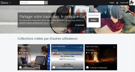 Microsoft relance Docs.com pour publier simplement des documents Office - FraWin | Freewares | Scoop.it