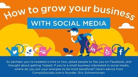Infographie : développer ses affaires avec les médias sociaux | Médias sociaux, réseaux sociaux, SMO, SMA, SMM… | Scoop.it