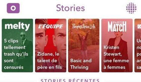 Snapchat Discover : contenus et performances des médias français | Actualité Social Media : blogs & réseaux sociaux | Scoop.it