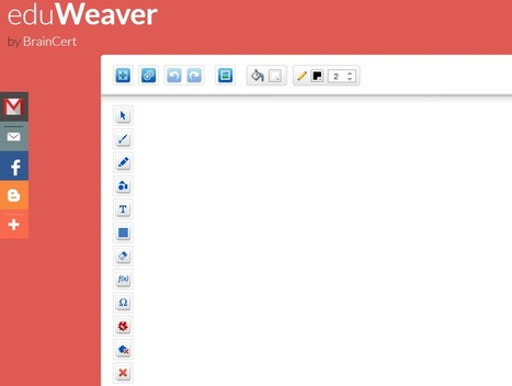 eduWeaver | FREE Online Whiteboard by BrainCert | Collaboration tools and news | Scoop.it