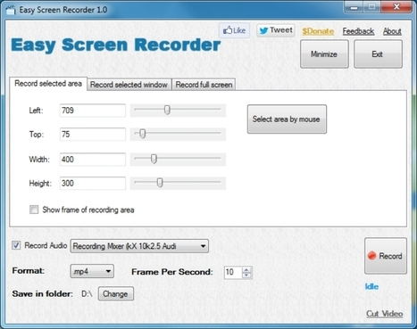 Easy Screen Recorder: graba screencats en varios formatos | Código Tic | Scoop.it