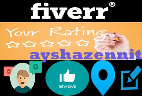 ayshazennit : Je vais google review, amazon reviews pour $5 sur www.fiverr.com   Latest Information   Scoop.it