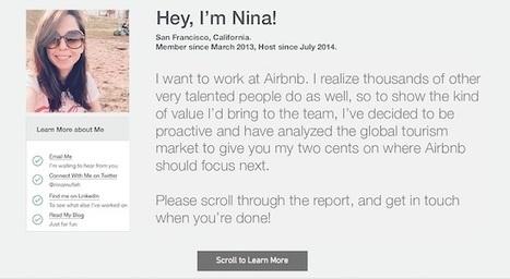 Sa candidature originale pour Airbnb fait le tour du monde - Mode(s) d'emploi   Emploi 2.0   Scoop.it