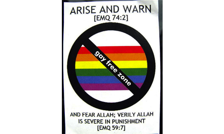 Stickers declare 'gay-free zone' in Hackney | The Indigenous Uprising of the British Isles | Scoop.it