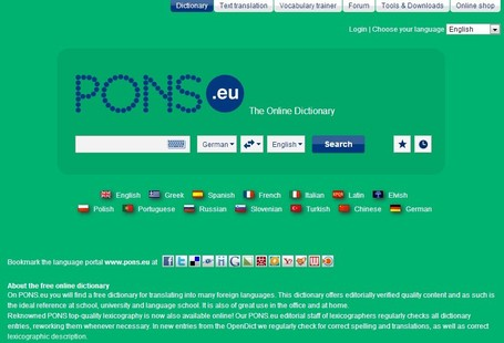 PONS Dictionary, German Spelling and Text Translation | 21st Century Tools for Teaching-People and Learners | Scoop.it