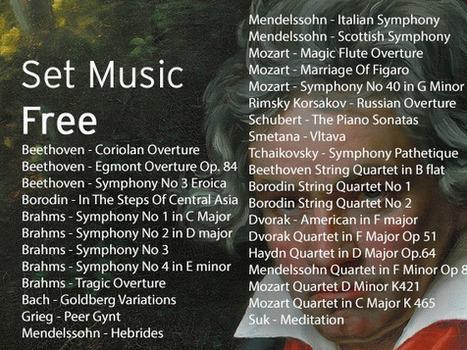Mozart, Beethoven, Brahms et d'autres sous licence libre | Lecture en ligne | Scoop.it