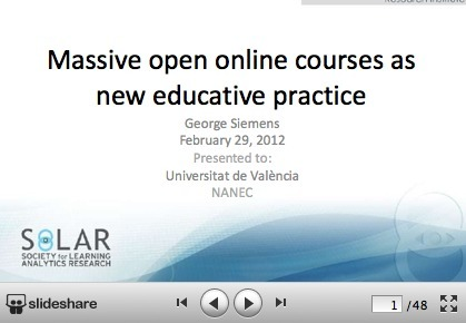 What is the theory that underpins moocs? | Distance and Virtual Learning | Scoop.it
